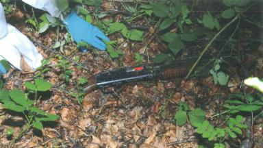 Kevin Gartland: The shotgun used by the man was found in a park.