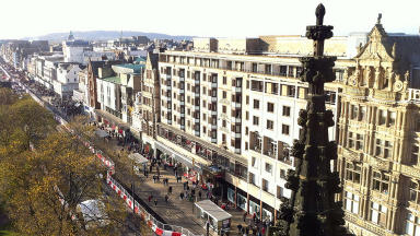 Princes Street from the Scott Monument