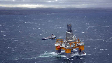 North Sea: BP's Schiehallion oil field west of Shetland (file pic).