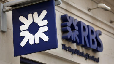 Royal Bank of Scotland banking finance stock / generic. Quality news image uploaded from PA October 30 2015.