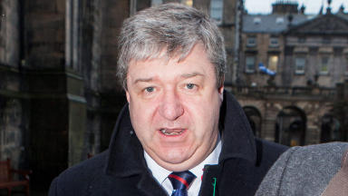 Hearing: Alistair Carmichael outside court in Edinburgh.