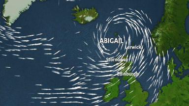 Storm Abigail STV Weather graphic news image uploaded November 11 2015