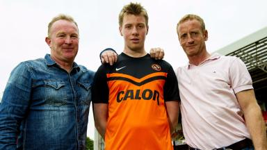 Dundee United have accepted the resignation of Stevie Campbell (left)
