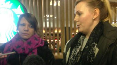 Christine Tudhope and Mariesha Payne Bataclan Paris terror attack survivors November 15, 2015.