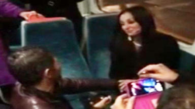 Stuart Mathie and Michelle McGrillen proposal on a Glasgow to Hamilton train news image from YouTube video used with permission uploaded Novemebr 16 2015