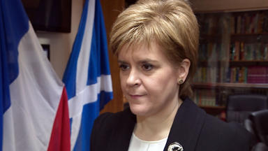First Minister Nicola Sturgeon visits Glasgow Central Mosque after Paris terror attacks. News image from broadcast uploaded Monday November 16 2015.