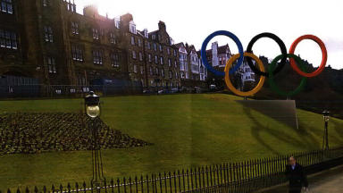 Olympic rings: The structure will be built on the mound.