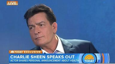Charlie Sheen on the Today show.
