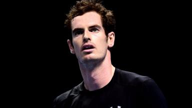 Andy Murray was unhappy with his serve in the defeat to Rafael Nadal