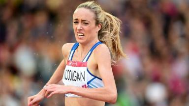 Team Scotland's Eilish McColgan on her way to a sixth placed finish in the 3000m Steeplechase Final.
