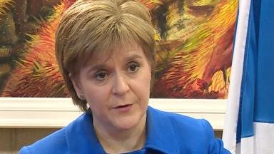 Nicola Sturgeon First Minister interview news image from broadcast uploaded  November 19 2015