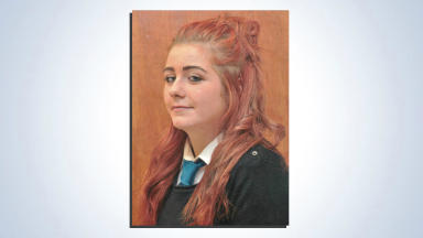 Caroline Williamson, 15, missing from Stirling home. Pic from Police Scotland. Uploaded on Nov 19 2015.