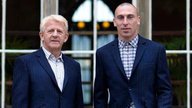 Harris Tweed: Gordon Strachan (left) and Scott Brown (right).