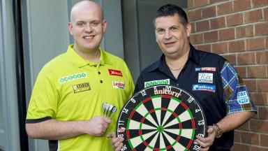 Q&A: Michael van Gerwen (left) and Gary Anderson put themselves to the test.