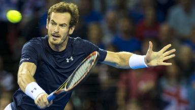 Settled: Andy Murray and his Team GB team-mates are looking ahead to Friday.