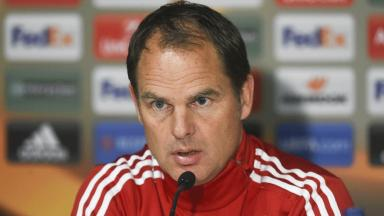 Ajax manager: Frank De Boer talks to the press ahead of their side's clash with Celtic