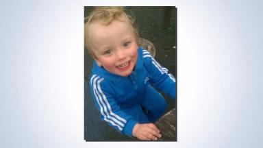Found: The toddler and his grandmother have been traced safe and well.