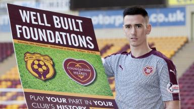 Fans: Jamie Walker helps promote a celebration of fan ownership ahead of the weekend