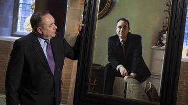 Alex Salmond: With the painting at the Scottish National Portrait Gallery.