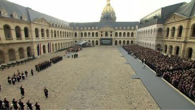 Memorial service held for victims of Paris attacks