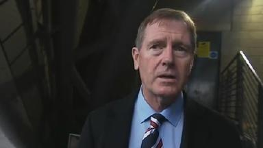Dave King after Rangers AGM at Clyde Auditorium uploaded on Friday December 27, 2015. Screengrab from Grant Russell interview.
