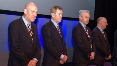 Mark Warburton, Dave King and Paul Murray were among the club representatives at Rangers AGM