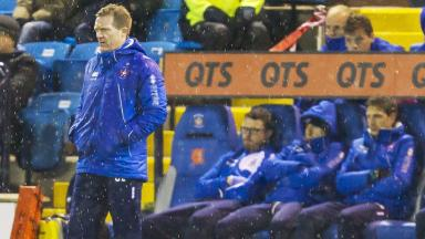 Dejection: Killie suffered a thumping to the Jags.