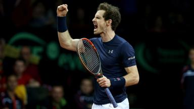 Final: Andy Murray is up against the Belgian number one.