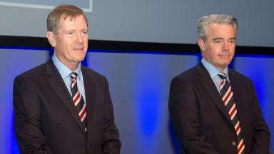 Dave King (left) and fellow Rangers directors have failed in a crucial AGM vote