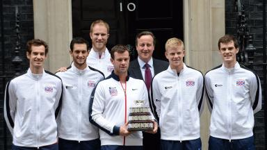 Davis Cup: Team meet Prime Minister David Cameron.