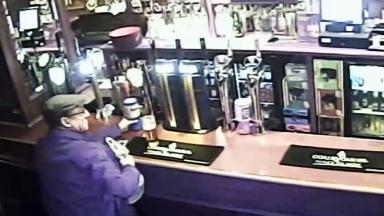Wagley's Bar: Pub patron steals charity jar.