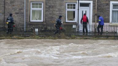 River Teviot: Borders homes affected when the river burst its banks in Storm Desmond.