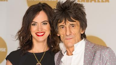 Ronnie Wood and his wife Sally Humphries