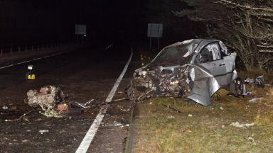 A9: Crash ripped engine from car.