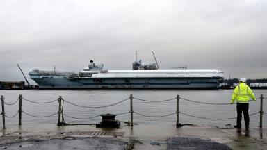 Defence Secretary Michael Fallon praises progress of HMS Queen Elizabeth aircraft carrier, news image, high quality, uploaded December 7 2015