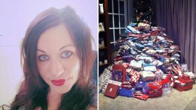 Emma Tapping said she saves up all year round to give her kids the best Christmas she can.