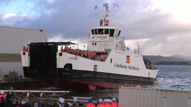 MV Catriona: First ship built at Ferguson yard since takeover in September 2014.