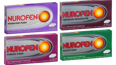 The range of Nurofen painkillers to be withdrawn.