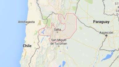 The crash happened in the northern Argentine province of Salta.