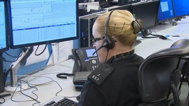 Bilston Glen Police Scotland call centre internal news image from broadcast uploaded December 15 2015