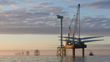 Wind farm: Scots would like to see turbines built in Aberdeen Bay.