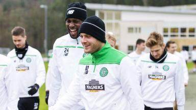 Return: Anthony Stokes is back in training.