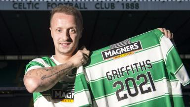 Celtic's Leigh Griffiths signs a new five year deal for his side.