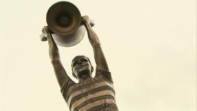Billy McNeill Lisbon Lion Celtic statue December 19 2015.