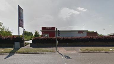 The fast food restaurant that was robbed at knifepoint
