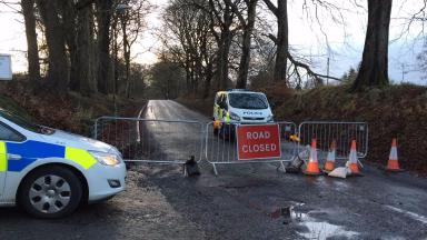 Investigation: The location has been cordoned off by police.