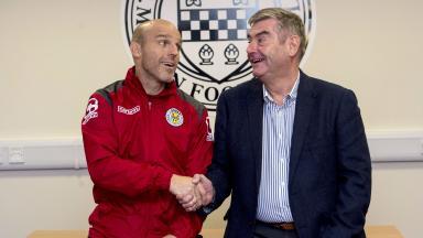 Alex Rae meets new boss Stewart Gilmour at St Mirren Park