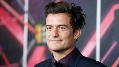 File photo: Actor Orlando Bloom poses at the Britannia awards