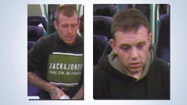 CCTV: Police want to speak to two men in connection with the attack.