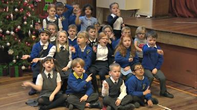 Duddingston pupils: Hoping to be on Santa's nice list this year.